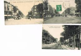 Pantin 93 - Trois Cartes Postales De La Rue D´aubervilliers Différentes - Pantin
