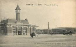93 AULNAY SOUS BOIS PLACE DE LA GARE ET AUTOMOBILE - Aulnay Sous Bois