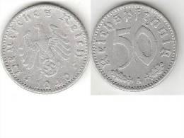 *Germany Third Reich  50 Pfennig 1940 A Km 96  Vf - [ 4] 1933-1945 : Troisième Reich