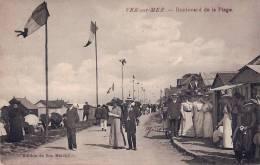POST CARD CPA  - VER SUR MER 14 Calvados - 1910 Boulevard De La Plage Très Animé - Autres Communes