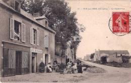 POST CARD CPA  N°17 - VER SUR MER 14 Calvados - 1911  Le Paistil Ver - Café Restaurant Bien Animé - Autres Communes