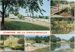 GEDINNE-CAMPING-MULTIVUE-CARAVANING DE LA CROIX-SCAILLE-RUE DU PETIT ROT-CARTE VIERGE - Gedinne
