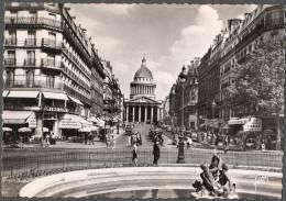 1952 PARIS PLACE EDMOND ROSTAND RUE SOUFFLOT ET LE PANTHEON - FG V SEE 2 SCANS BAUDELAIRE ANIMEE - Ile-de-France