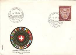 Timbre YT 1003 Sur Enveloppe Jungfraujoch Höchstgelegene Poststelle Europas Plus Haut Bureau De Poste D'Europe, 4/7/1976 - Svizzera