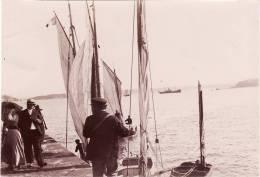 Photo Originale 1900 SAINT MALO - L´embarcadère Au Petit Bey (A23) - Saint Malo