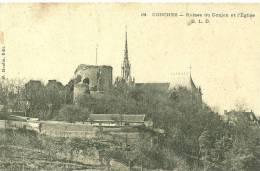 Conches-en-Ouche. Le Village, Les Ruines Du Donjon Et  L'église. - Conches-en-Ouche