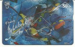 Austria-(f151)-bank Austria-schubert-(50e)-(704l)-tirage-13.010-used Card+1 Card Prepiad Free - Austria