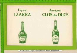 BUVARD : Liqueur ISARA  ARMAGNAC CLOS Des DUCS Vert - Liquor & Beer