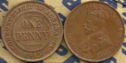 AUSTRALIA 1 PENNY NAME FRONT MAN KGV HEAD BACK 1913 L F+ CV$9 KM23 READ DESCRIPTION CAREFULLY !!! - Monnaie Pré-décimale (1910-1965)