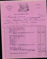 FABRIQUE DE TULLES SOIE & NOUVEAUTES A LYON / FACTURE DATEE 1921 - France