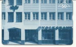 Austria-(f34)-volksbank No-mitte-(50e)-(605l)-tirage-1.150-used Card+1 Card Prepiad Free - Austria