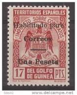 GUI259J-L3815.Guinee GUINEA ESPAÑOLA SELLOS FISCALES 1939/41.(Ed  259J**).sin Charnela.LUJO RARO - Ifni