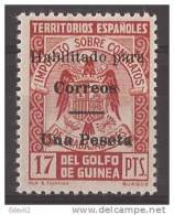 GUI259J-L3815TESSC.Guinee GUINEA ESPAÑOLA SELLOS FISCALES 1939/41.(Ed  259J**).sin Charnela.LUJO RARO - Sin Clasificación