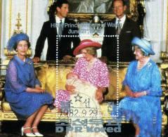 Lady Diana Und Königin Elisabeth 1982 Korea North 2281 Plus Block 126 O 11€ Geburt Prinz Williams Bf Bloc Sheet Of Coree - Corée Du Nord