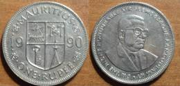 1990 - Maurice - Mauritius - ONE RUPEE - KM 55 - Mauritius