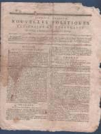 NOUVELLES POLITIQUES 17 12 1792 - ANVERS - FRANCFORT STRASBOURG - VERVIERS - PETIT RECHAIN - PRISONNIERS TEMPLE - CAMBON - Journaux Anciens - Avant 1800