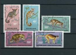 1971 Central Africa Complete Set Primaten,monkey,affen,animals,dieren,tiere Used/gebruikt/oblitere... Cat. Value 10 Euro - Collections (en Albums)