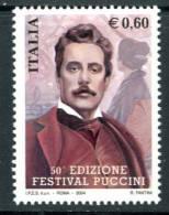 """ITALIA / ITALY 2004** - G. Puccini - Compositore Italiano - """" 1 Val. MNH Come Da Scansione - Musica"""
