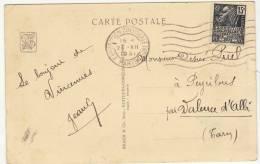 Archive Puel/ 15c Facchi OMEC Exposition Coloniale  Paris 1931/CP Concardante (2 Scans) - Poststempel (Briefe)