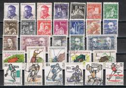 Verzameling 27 Tjechoslovakije (o) - See Scans - Collections (en Albums)