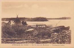 CPA ALASKA Sur Les Rives Du Mackensie Campement Indien - United States