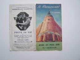 PROGRAMME PUBLICITE CINEMA PARAMOUNT PARIS 2, Bd Des CAPUCINES PARIS - Programas