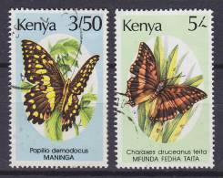 Kenya 1988 Mi. 424, 426 Schmetterling Butterfly Papillon - Kenia (1963-...)