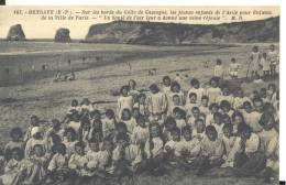 163  HENDAYE - Les Jeunes Enfants Du Sanatorium De La Ville De Paris  , Bon état ( Voir Scan ) - Hendaye