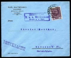 A1509) Austria Österreich Drucksache-Brief Von Bruck 24.5.1916 Mit ZENSUR Bruck A.d.Mur - 1850-1918 Imperium