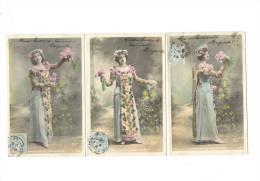 3 CPA FEMME Et FLEURS - JARDINIERS Et JARDINIERES - (Waléry) - Femmes