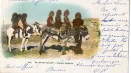 INDIENS D'AMERIQUE DU NORD ETNOLOGIE Types D´Indiens Pueblo Ane  Beau Plan - Indiens De L'Amerique Du Nord