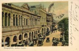 SINGAPOUR SINGAPORE Rue Commerces Automobiles Raffle's Square - Singapour