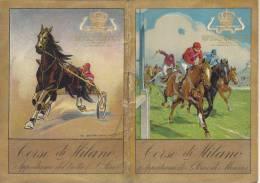 CALENDARIETTO CORSE DI MILANO  IPPODROMO DI SAN SIRO E DI MONZA FIRMA DUDOVICH A.V-2-0882 15057-58 - Calendars