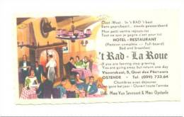 "OOSTENDE - OSTENDE - Hotel - Restaurant "" 't Rad"" - "" La Roue"" - Cartes De Visite"