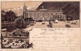 GRUSS Aus ZELL AM SEE : GRAND HOTEL AM SEE / C. BÖHM - PRÉCURSEUR : CARTE POSTALE LITHOGRAPHIÉE VOYAGÉE En 1896 (n-199) - Autriche