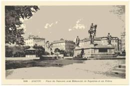 2A - CPA - Ajaccio - Place Du Diamant Avec Monument Napoléon Et Ses Frères - Ajaccio