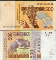 WEST AFRICAN STATES SENEGAL 500 FRANCS 2012 P NEW UNC - Senegal