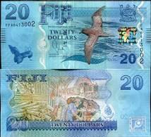 FIJI 20 DOLLARS 2012/2013 P NEW FLORA & FAUNA DESIGN UNC - Figi