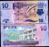 FIJI 10 DOLLARS 2012/2013 P NEW FLORA & FAUNA DESIGN UNC - Figi