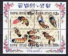 KOREA NORTH 2005 Sc#4464 BEES, Souvenir Sheet (CTO) - Insects