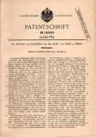 Original Patentschrift - Dr. S. Von Clanner Und Dr. K. Von Jékey In Wien , 1902, Wettrennspiel , Rennbahn , Pferderennen - Antikspielzeug