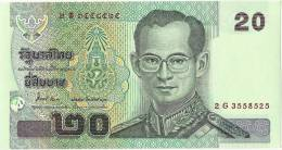 Thailand 20 BAHT UNC - Thaïlande