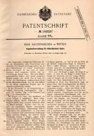 Original Patentschrift - K. Kaltenhäuser In Witten , 1902 , Kugelstoßapparat Für Billiard !!! - Billard