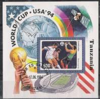 Tanzania 1994 - Football World Cup USA 94 Souvenir Sheet Cancelled Very Fine - World Cup
