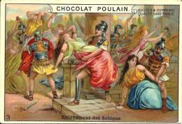 Image Publicitaire Chocolat - POULAIN - Enlèvement Des Sabines - Chocolat