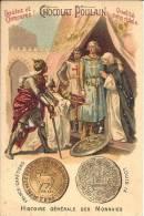 Image Publicitaire Chocolat - POULAIN - Histoire Générale Des Monnaies - France - Capétiens - Louis IX - Chocolat