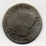 Monnaie Française Louis XVI  1792 30 Sols - 1789 – 1795 Monete Costituzionali