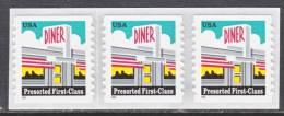U.S. 3208a X 3  **  DINER - Coils & Coil Singles