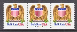 U.S. 2602 X 3  Plate  A 11112   **  EAGLE  SHIELD - Coils (Plate Numbers)