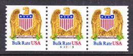 U.S. 2602 X 3  Plate  A 22113   **  EAGLE  SHIELD - Coils (Plate Numbers)